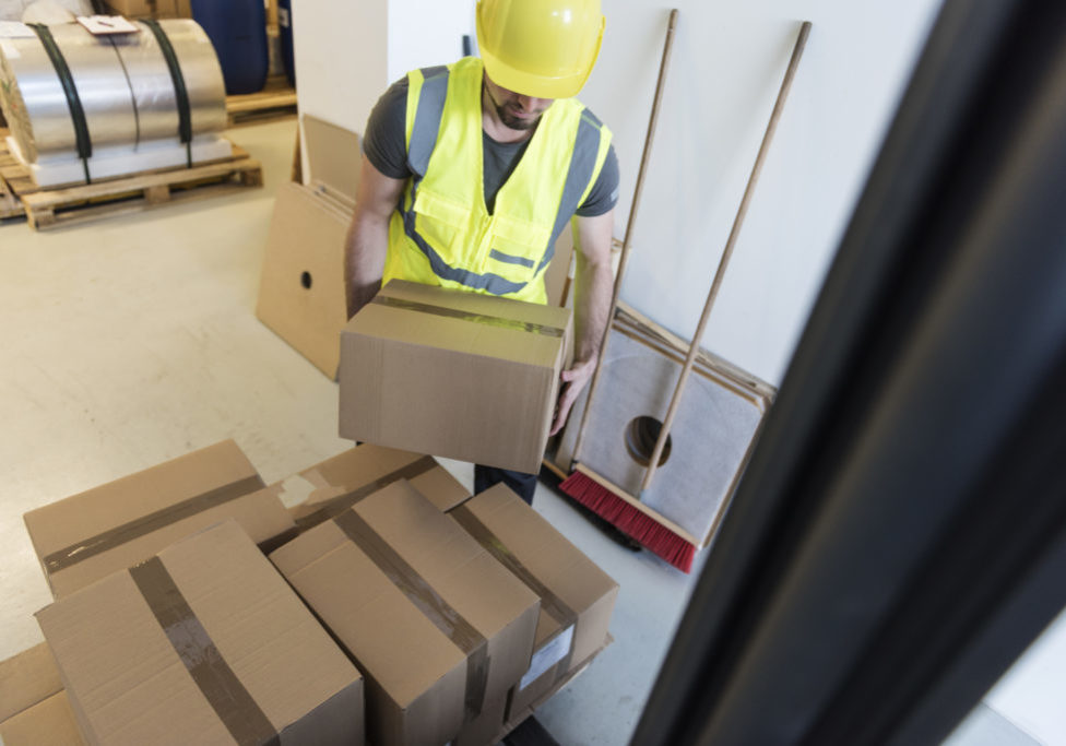 Young Manual Worker  in warehouse